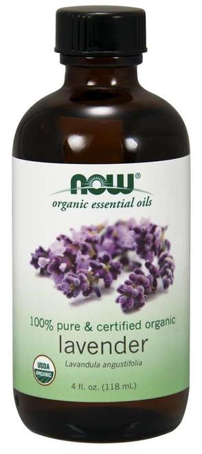 NOW 100% Pure Lavender Oil, Certified Organic - 4 fl. oz.