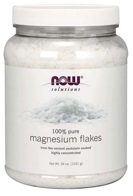 NOW® Solutions 100% Pure Magnesium Flakes - 54 oz.