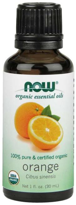 NOW 100% Pure Orange Oil, Organic - 4 fl. oz.