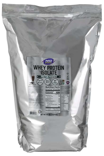 Whey Protein Isolate, Creamy Chocolate Powder - 10 lbs.