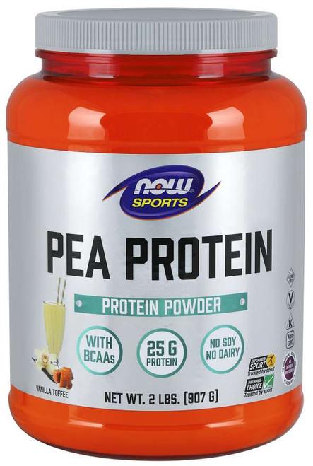 NOW® Sports Pea Protein, Vanilla Toffee Powder - 2 lbs.
