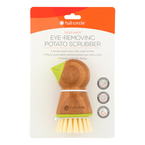 Full Circle Home Tater Mate Potato Brush With Eye Remover