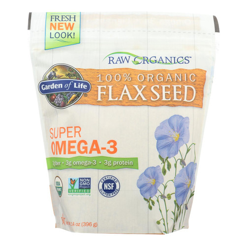 Garden Of Life - Raw Organics Golden Flaxseed - 14 Oz