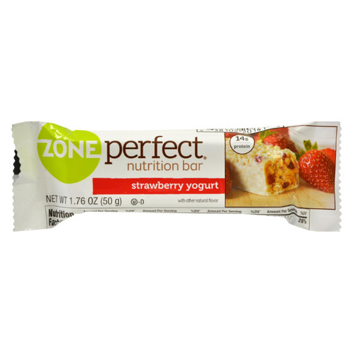 Zone - Nutrition Bar - Strawberry Yogurt - Case Of 12 - 1.76 Oz.