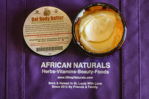 100% Natural Oat Body Butter For Hair & Skin 8oz.