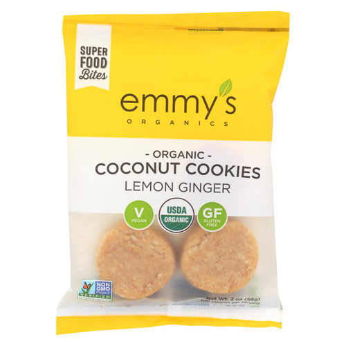 Emmy's Macaroons - Lemon Ginger - Case Of 12 - 2 Oz.
