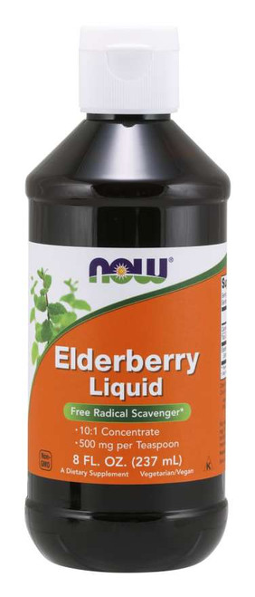 NOW Foods Elderberry Liquid Free Radical Scavenger 8 fl oz