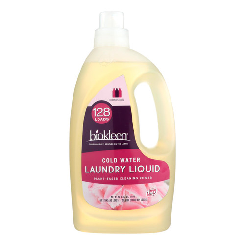 Biokleen Laundry Liquid - Cold Water Formula - 64 Oz