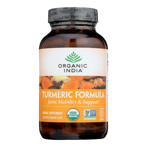 Organic India Usa Whole Herb Supplement, Tumeric  - 1 Each - 180 Vcap
