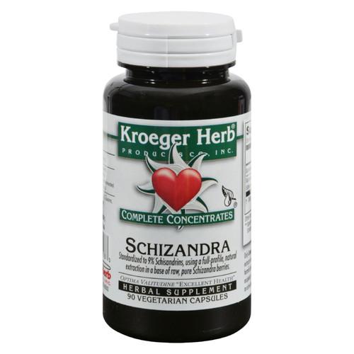 Kroeger Herb Schizandra - 90 Vegetarian Capsules