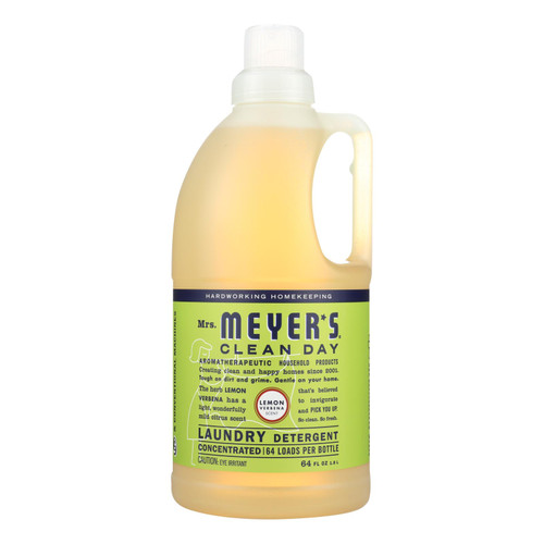 Mrs. Meyer's Clean Day - 2x Laundry Detergent - Lemon Verbana - 64 Oz