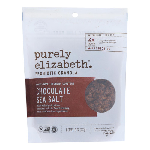 Purely Elizabeth Probiotic Granola - Chocolate Sea Salt - Case Of 6 - 8 Oz.