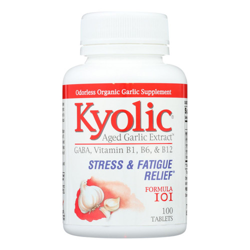 Kyolic - Aged Garlic Extract Stress And Fatigue Relief Formula 101 - 100 Tablets