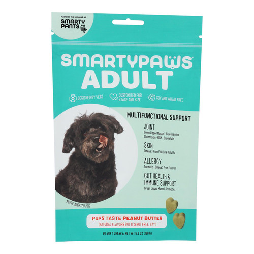 Smartypaws - Adult Frmla Peanut Butter - 1 Each - 60 Ct