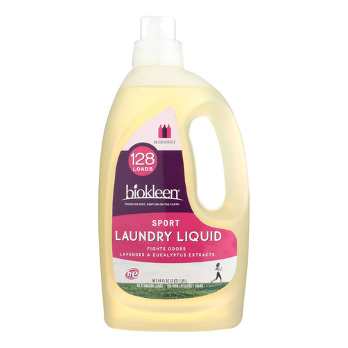 Biokleen Laundry Liquid - Sport - 64 Oz