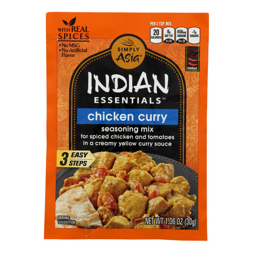 Simply Asia Indian Essentials Chicken Curry Seasoning Mix  - Case Of 12 - 1.06 Oz