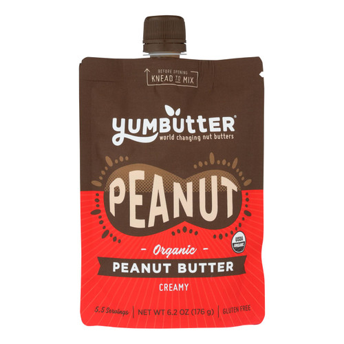 Yumbutter Creamy Peanut Butter Creamy - Case Of 6 - 6.2 Oz