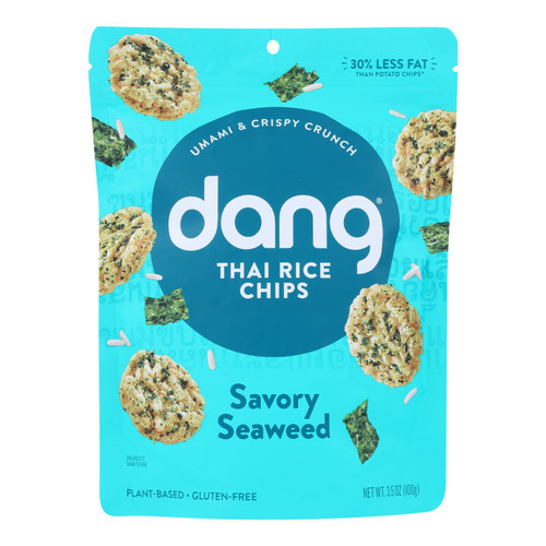 Dang - Sticky Rice Chips - Savory Seaweed - Case Of 12 - 3.5 Oz