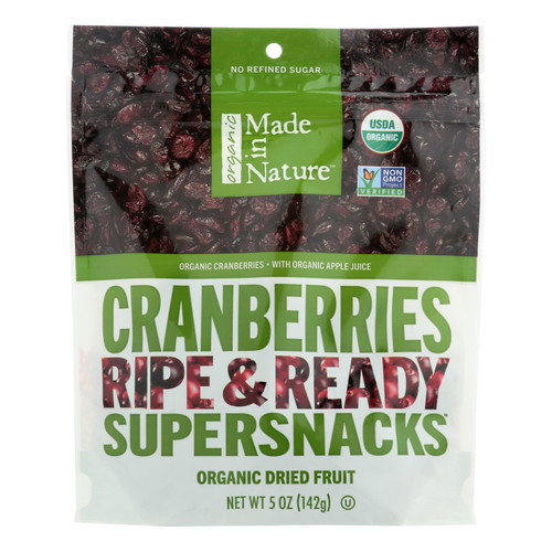 Made In Nature Cranberries Organic Dried Fruit  - Case Of 6 - 5 Oz