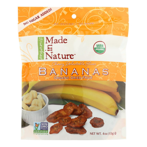 Made In Nature Bananas - Organic - Dried - Case Of 6 - 4 Oz