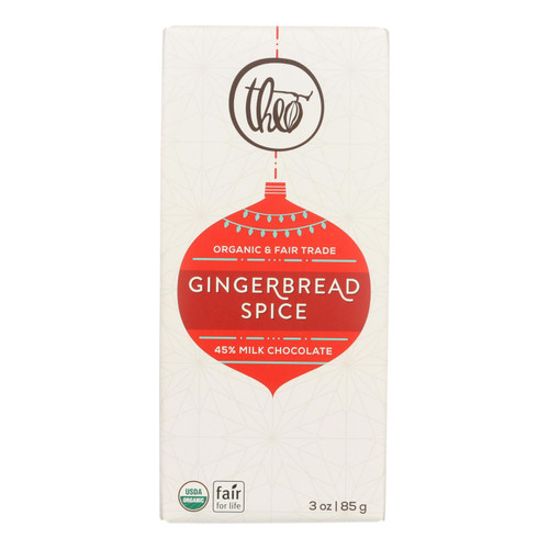 Theo Chocolate Gingerbread Spice With Milk Chocolate  - Case Of 12 - 3 Oz
