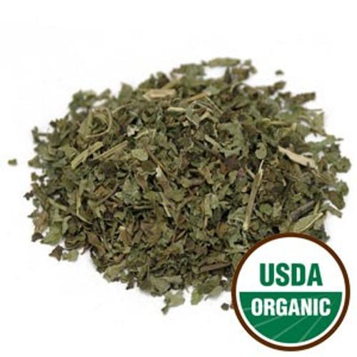 100% Organic Lemon Balm Leaf C/S 4oz