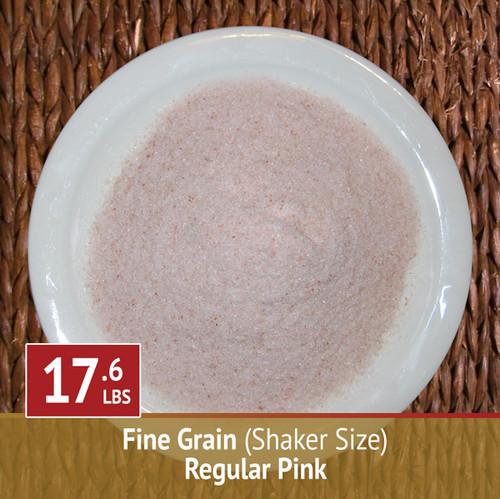 17.6 lbs Himalayan Pink Salt - Fine Grain (Shaker)