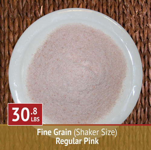 30.8 lbs Himalayan Pink Salt - Fine Grain (Shaker)