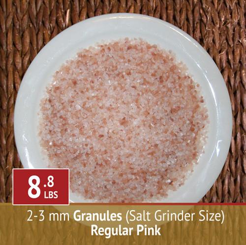 8.8 lbs Himalayan Pink Salt - Granules (Grinder)