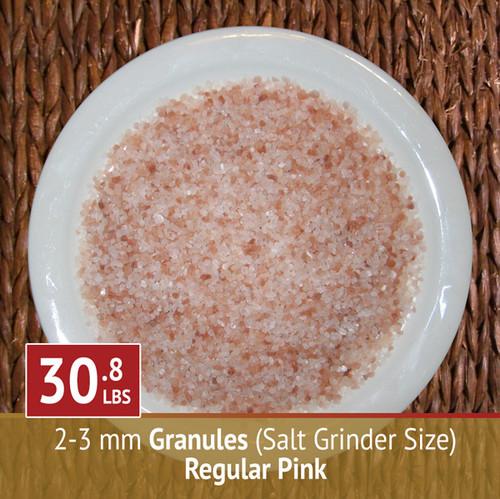 30.8 lbs Himalayan Pink Salt - Granules (Grinder)