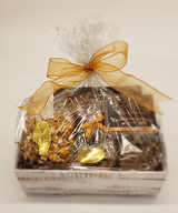 A decorative basket, shrink wrapped for that special person. Send them one and show them some love!