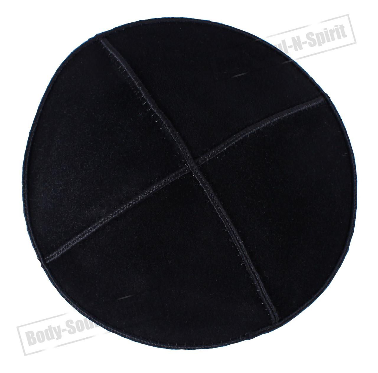 d4475328739 Black leather Beanie Kippah Yarmulke Kippa Israel Tribal Jewish Hat ...