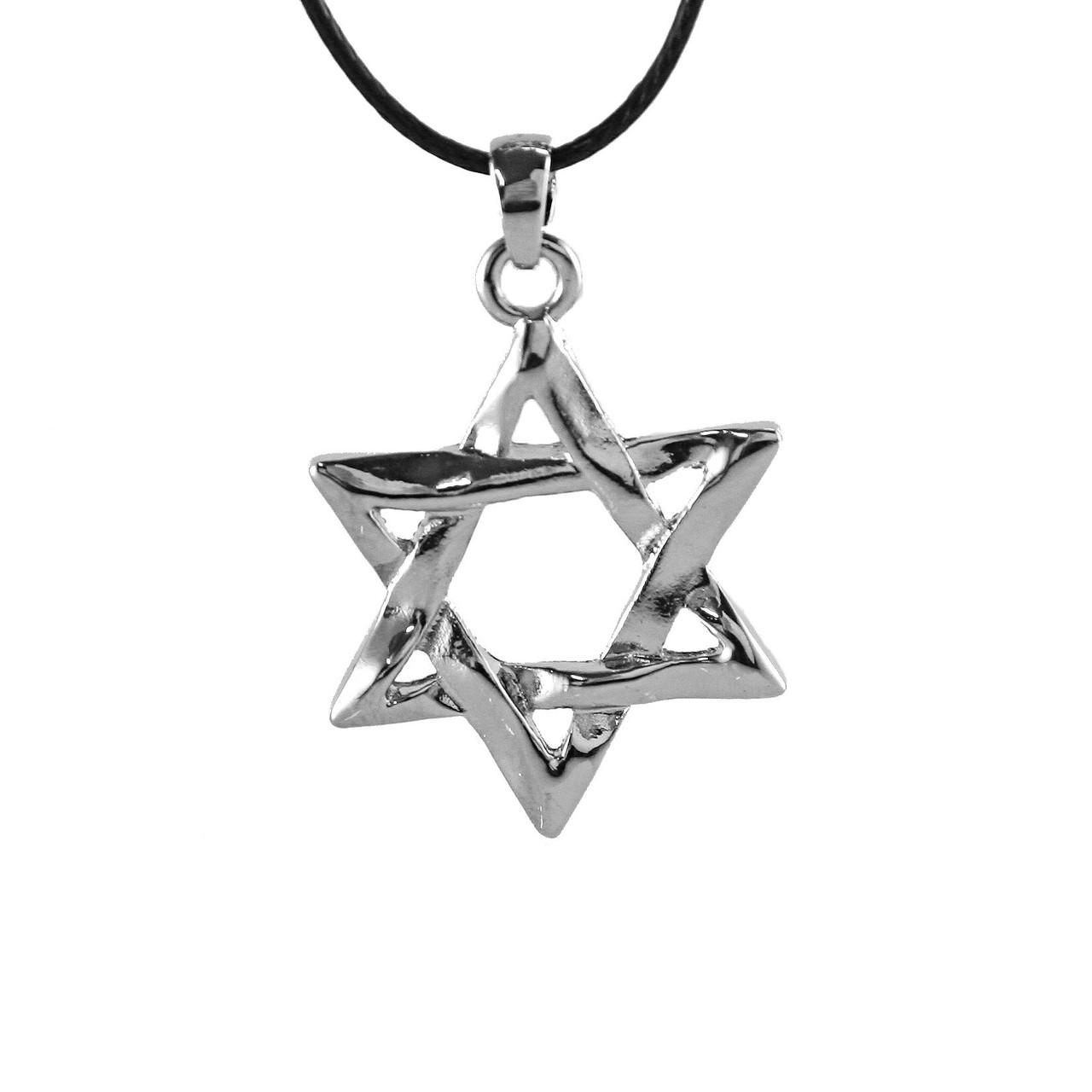 Star Of David Necklace Israel Amulet Pendant Charm Jewish Judaica Jewelry Gift