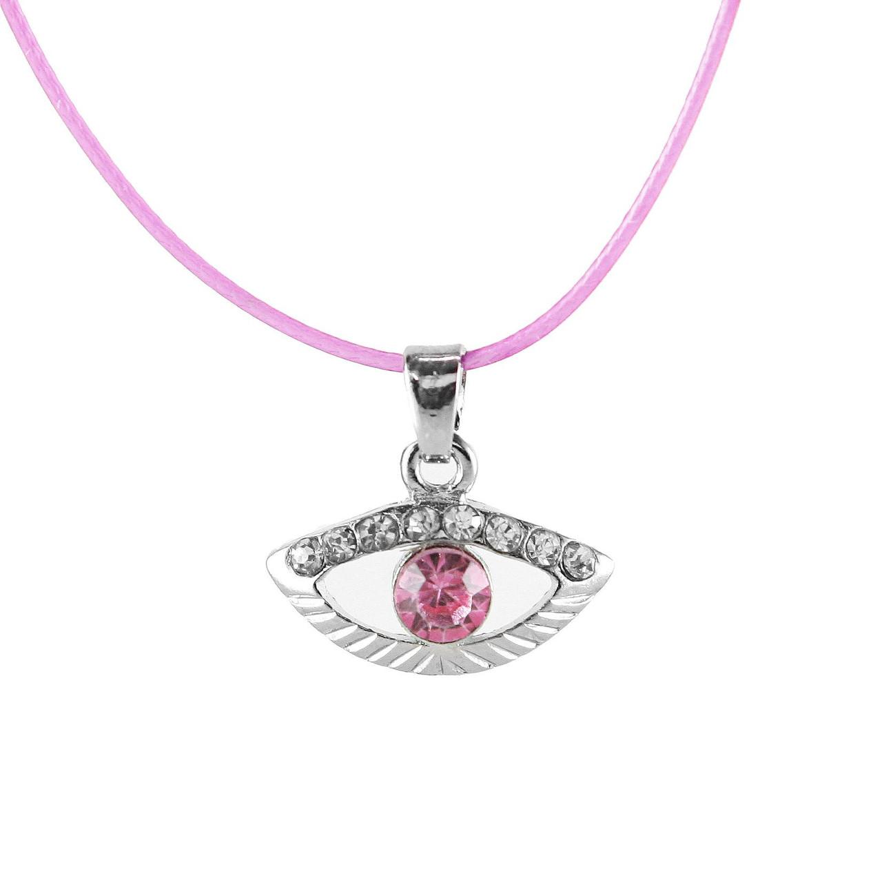 Lucky charm Bracelet Evil Eye pink