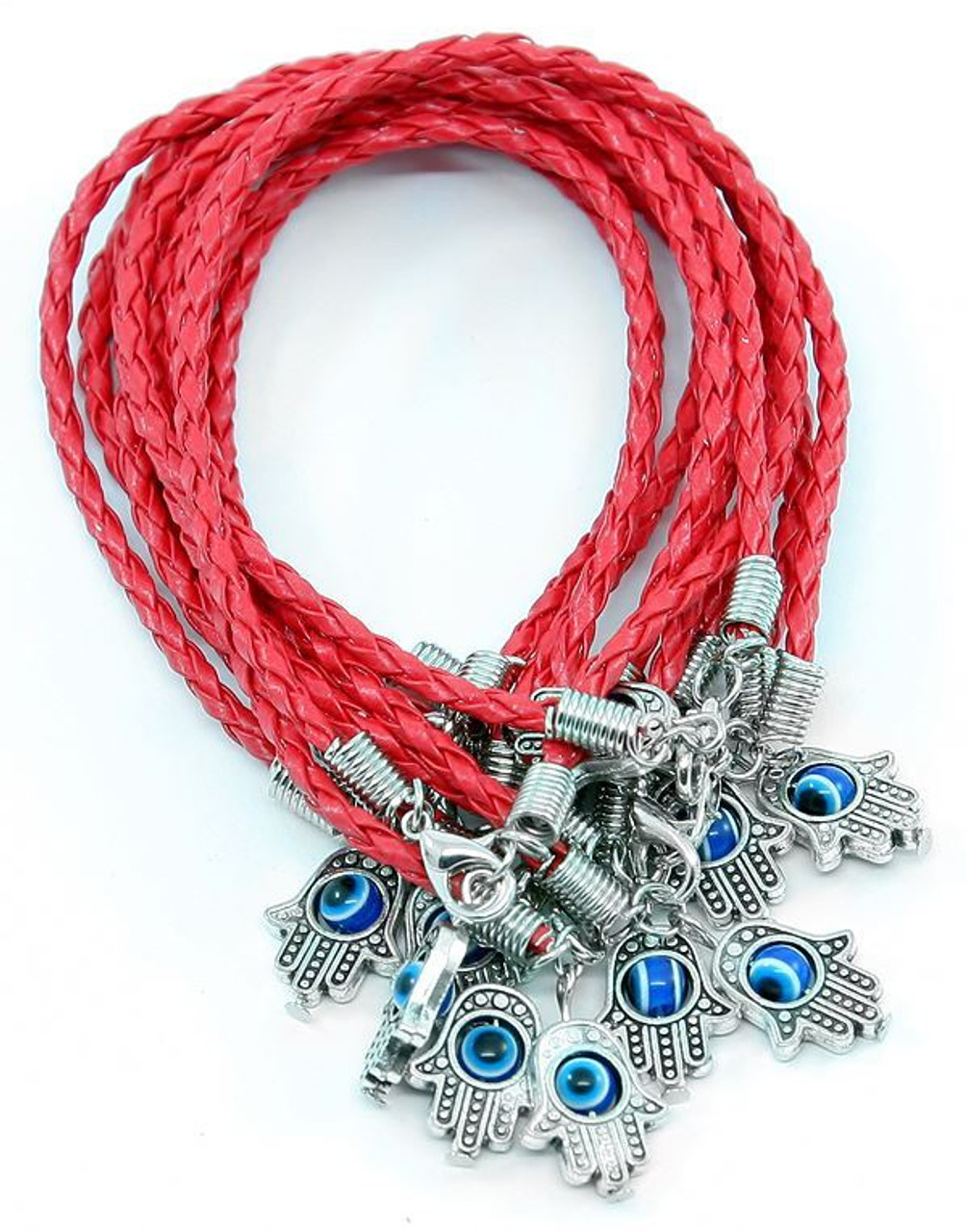 Gold Lucky Bracelet Kabbalah Hamsa Hand Evil Eye Judaica Protection Adjustable