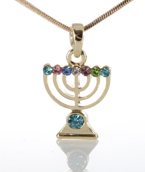 Soul Lamp Menorah jewish Necklace LUCKY charm Amulet Pendant fashion Jewelry Judaica Kabbalah
