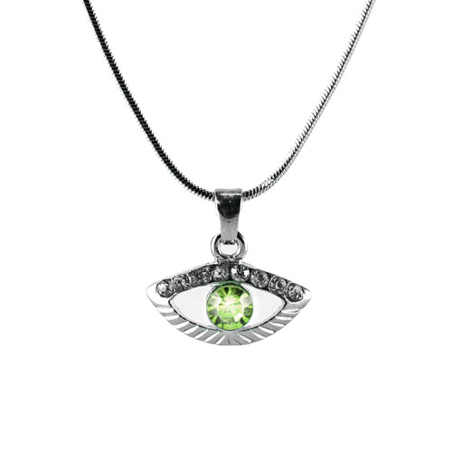 Green Evil Eye Amulet Necklace good LUCKY Charm Pandora Protection Judaica Spiritual