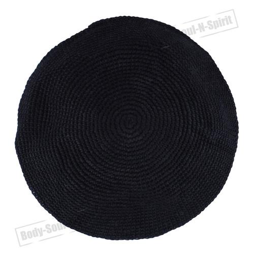 Classic THIN ELEGANT Knitted Black Kippa Hat Jewish Holy sacred cupola Yarmulke