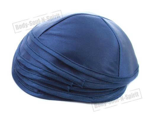 5 Blue Satin Kippah Yarmulke Tribal Jewish Yamaka Kippa Israel Hat Covering Cap