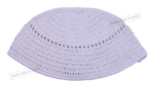 Classic frik Holy cupola Yarmulke white Knitted Tribal Jewish Kippah Israel Hat