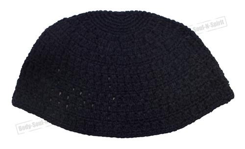 Black Knitted Kippah Yarmulke Tribal Jewish Hat covering Cap Holy sacred cupola