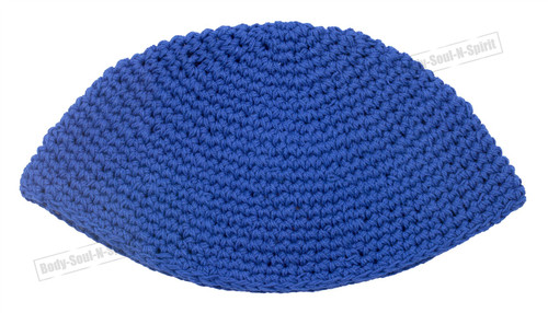 Blue Knitted Kippah Yarmulke Tribal Jewish Hat covering Cap Holy sacred cupola