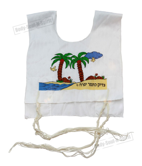 Hand tied Kosher Jewish KIDS Holy gift boys Tallit Cotton Israel Tzitzit Katan