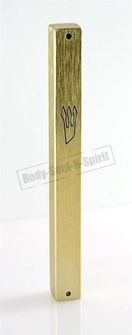Gold plated Mezuzah Mezuza Case 12cm Judaica Jewish shaddi Aluminum Design