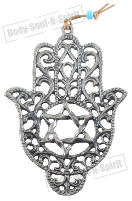 STAR DAVID evil Hamsa hand Silver plated Soul holy souvenir Judaica Wall decor