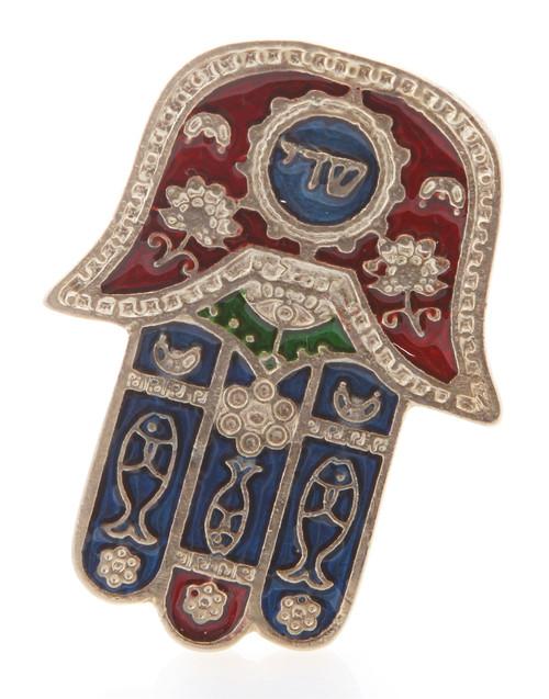 Hamsa Red SHADI Hebrew MAGNET Israel Kabbalah Judaica Evil Eye Lucky Charm