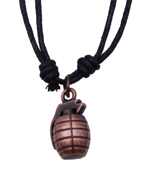Cross Hand Fire Grenades copper Pendant Men's Stainless Steel Fashion Necklace