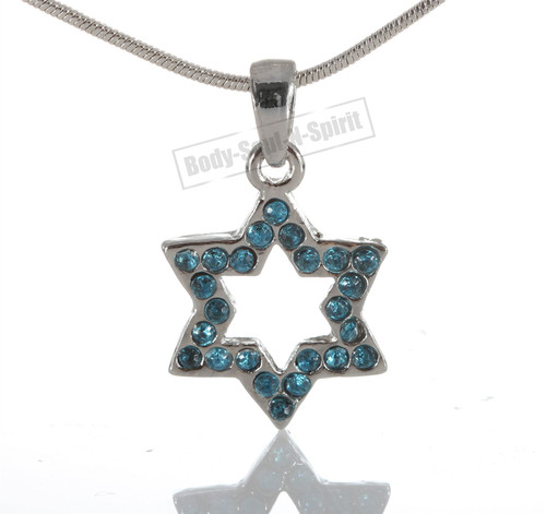 """Star of David"" Pedent Necklace Lucky charm  Silver Plated Jewish Judaica"