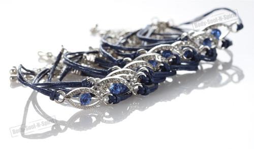 Lot Blue Evil Eye Bracelets STRING Kabbalah good Lucky Charm Jewelry