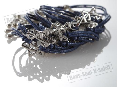 Lot Blue Star of David Bracelets STRING Kabbalah good Lucky Charm Jewelry